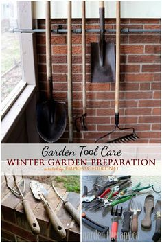 How to Make Good Garden Tools Last a Lifetime Winter Garden Preparation: Garden Tool Care Best Garden Tools, Garden Tool Shed, Garden Tool Organization, Garden Tool Storage, Organization Ideas, Organic Gardening, Gardening Tips, Gardening Quotes, Hydroponic Gardening