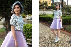 Ensaio: Have Fun - Na Garupa da Vespa  #retrô #retrophotoshoot #patins #fun #rollergirl #rollerskating #vinilskirt #skirt #Askirt #retroskirt #pastelcolors #retrolook