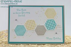 Stempel-Biene, Six-Sided Sampler, Gorgeous Grunge, Stampin Up!, Bermudablau