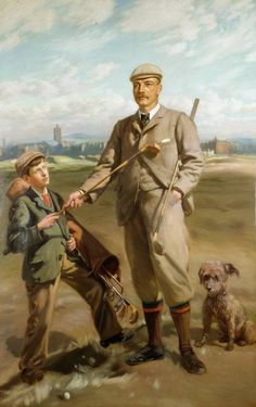 Freddie Tait, 1901 (oil on canvas) by John Henry Lorimer (Scottish 1856-1936) Royal and Ancient Golf Club of St. Andrew's, Scotland