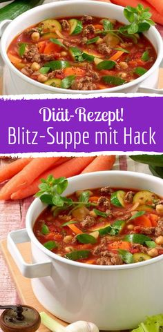 This soup with hack and vegetables will melt the pounds This soup with hack and vegetables makes the pounds tumble Transformation Fitness, Expensive Taste, Pumpkin Spice Cupcakes, Fall Desserts, Ice Cream Recipes, Gnocchi, Eat Cake, Healthy Snacks, Cravings