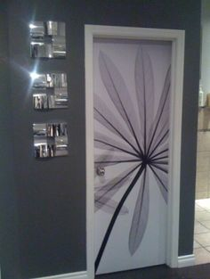 I like this idea for individualizing kid's bedroom doors.