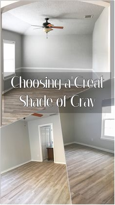 Modern farmhouse gray paint colors home remodeling ideas wood plank floors Farmhouse Paint Colors, Paint Colors For Home, House Colors, Coastal Paint Colors, Basement Paint Colors, Paint Colors For Living Room, Home Renovation, Home Remodeling Diy, Kitchen Remodeling