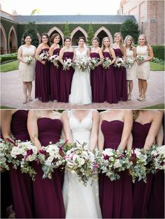 Eggplant Bridesmaids Dresses ~ Purple Weddings ~ YES, but more of a cooler purple rather than warm purple