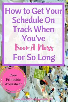 Home organization schedule time management 55 Ideas Free Printable Worksheets, Printables, Time Management Tips, Home Management, Planner Organization, Organizing Life, Organizing Ideas, Organising, How To Get