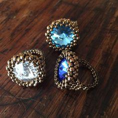 Classic Swarovski crystal cocktail ring by AmyKanarekDesigns