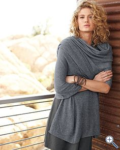 I sort of have this thing for cardigans. And wraps. And cashmere. I think I just found my new best friend.