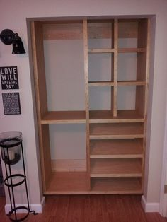 Kreg Jig® Project: Closet Built-In. Maybe for the gamer room closet Diy Closet, Home Projects, Diy Furniture, Diy Storage, Diy Home Improvement, Furniture Plans, Wood Diy, Home Diy, Kreg Jig Projects