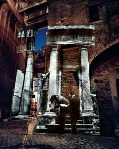 Attie, Shimon/At Tower of the Fornicata, On Location Slide Projection, Rome Italy, 2002 Exam Messages, Jewish Ghetto, Aqa, Gcse Art, Contemporary Photography, Rome Italy, Baudrillard, Brooklyn Bridge, King John
