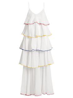 Imaan flounce-trimmed cotton dress   Lisa Marie Fernandez   MATCHESFASHION.COM UK