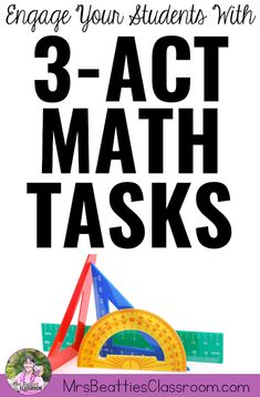 Math Tasks are some of the most powerful learning experiences I've used in my middle school classroom. Learn about the research behind these effective teaching practices, and grab some… Middle School Classroom, Math Classroom, High School, Classroom Ideas, Act Math, Math Talk, Math Teacher, Teaching Math, Teaching Tips