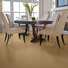 Shaw: Berber carpet spun gold, #00224 nylon Berber for stairs. Matching area rugs for landing and hall to coordinate with current flooring.