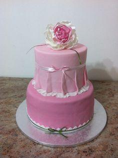 Pink cake , peonia handmade