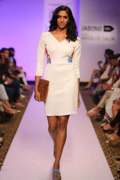 White bodycon dress by Verandah. Shop at: http://www.perniaspopupshop.com/lfw-march-2015/verandah #dress #perniaspopupshop #shopnow #beautiful #happyshopping