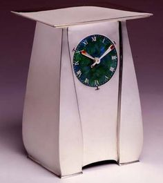 Archibald Knox for Liberty, Sterling Silver & Enamel Art Nouveau Clock...Stunning!!!!