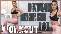 BAUCH BEINE PO WORKOUT für Zuhause HARDCORE HIIT - YouTube