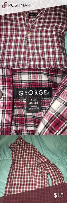 Men's George Flannel This is like brand new! Very comfortable and big! Men's XL flannel!! George Shirts Casual Button Down Shirts