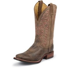 pink on brown - Cowgirl Boots