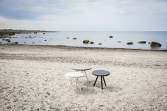 SMC tables at the beach · furniture design · Bitterlich Studio Beach Furniture, Furniture Design, Studio, Tables, Interior Design, Home Decor, Nest Design, Homemade Home Decor, Mesas