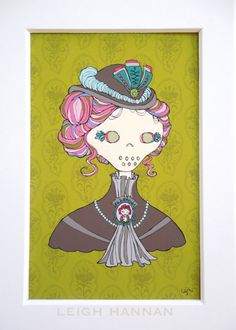 Victorian Skelly print by Skelly Chic; available in my Etsy shop! www.skellychic.com