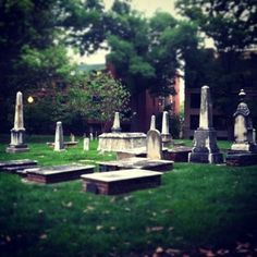 Charlotte Settlers' Cemetery // Uptown Charlotte, NC // {the five senses} in the Queen City #5senses #sight