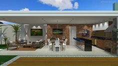 Casa Piscina, Modelo De Quarto Planejado, Moveis Area De Serviço, Moveis Para Area Gourmet, Moveis Planejados No Abc - Santo André. Outdoor Pergola, Outdoor Rooms, Outdoor Living, Outdoor Kitchen Design, Patio Design, House Design, Small Backyard Pools, Backyard Patio, California Homes