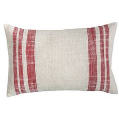 Loose weave, natural cotton and country red stripes give this C&F Home Morgan Crimson Holiday Throw Pillow its rustic appeal. This throw pillow. Outdoor Throw Pillows, Accent Pillows, Decorative Throw Pillows, Floor Pillows, Throw Pillow Sets, Lumbar Pillow, Pillow Covers, Pillow Talk, Frank Morgan