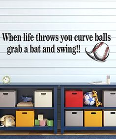 Another great find on #zulily! 'Curve Balls' Wall Decal #zulilyfinds