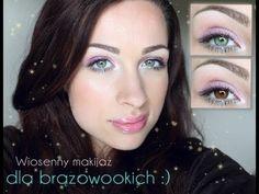 ** Wiosenny makijaż dla brązowych oczu **