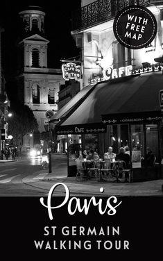 A self-guided walking tour of Paris St-Germain-des-Prés, visiting cafés, churches, parks and palaces in the city's intellectual and bohemian neighbourhood. #Paris #walk #France #StGermain