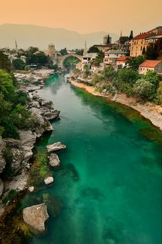 The enchanting city of Mostar in Bosnia and Herzegovina...