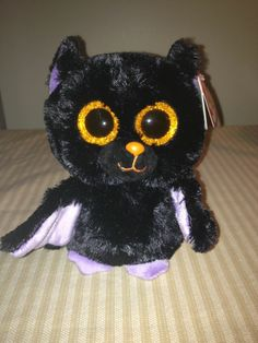 00b07bbfb5f RARE   RETIRED TY BEANIE BABY BEANIE BOO~SWOOPS THE HALLOWEEN BAT 6