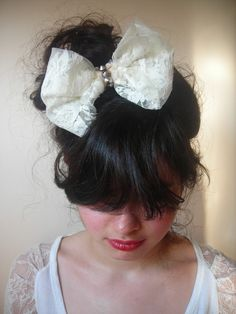 diy lace hairbow