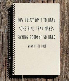 Friendship Journal – Winnie the Pooh Notebook – Winnie the Pooh Friendship – Friends Forever – Gift for Friend - Birthday Gift