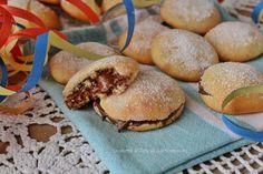 Frittelle di carnevale alla nutella cotte in forno