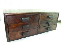 Antique tool cabinet/drawer chest