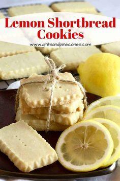 Every bite of Lemon Shortbread Cookies is sweet lemony cookie bliss! And, they couldn't be easier thanks to my genius cookie hack and a secret ingredient. New Year's Desserts, Cute Desserts, Christmas Desserts, Dessert Recipes, Dessert Ideas, Christmas Baking, Easy Homemade Cookie Recipes, Easy Recipes, Lemon Shortbread Cookies