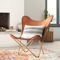 I appreciate this striking hammock chair Brown Leather Chairs, Leather Lounge, Leather Sofas, Tan Leather, Amancio Williams, Leather Butterfly Chair, Retro Lounge, Modern Chairs, Modern Armchair