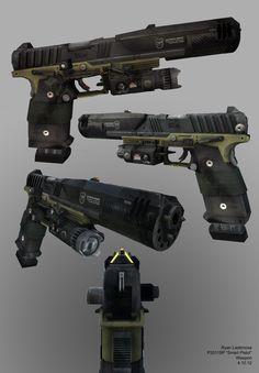 "Titanfall 1: P2011-SP ""Smart Pistol"", Ryan Lastimosa on ArtStation at https://www.artstation.com/artwork/Bvgk8"