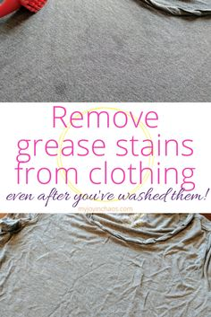 Remove Grease Stains from Clothing - even after you've washed them!