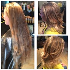 Drastic change! Layered haircut and blonde balayage for a natural look!