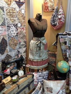 Tim Holtz's new fabric collection - LOVE it