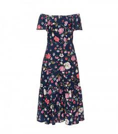 Rebecca Taylor Off the Shoulder Floral Dress