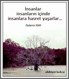 İnsanlar İnsanların içinde İnsanlara hasret yaşarlar... - Özdemir Asaf Like Quotes, Poem Quotes, Strong Love, Breath In Breath Out, More Than Words, Meaningful Words, Beautiful Words, Cool Words, Favorite Quotes