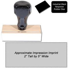 """Regular #Black #Neoprene #Rubber Stamp Size 2 x 5. Our Black Neoprene Stamps are built to endure heavy-duty industrial use. Click here to customize your own 2"""" x 5"""" Black Neoprene Stamp online!"""