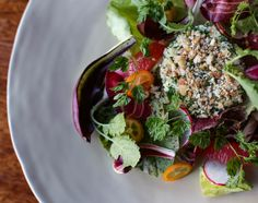 goat cheese croquette; winter salad
