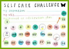 Self care / Habit Change Challenge –  do you have 15 minutes per day?– with free printable