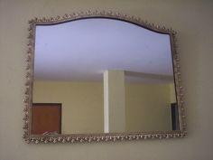Antiguo Espejo Colgante Marco De Bronce - Excelente - - $ 265,00 en MercadoLibre