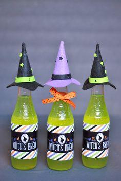 DIY Witch's Brew Bottles for Halloween w/ Freebie! Pizzazzerie.com