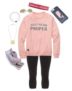 """Friday Football last night, Read D"" by camlinker ❤ liked on Polyvore featuring Manon Baptiste, Kate Spade, NIKE and Under Armour"